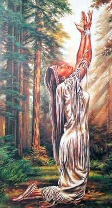 squaw worships a nature force